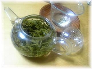 西湖龍井茶(二煎め)