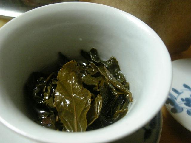 文山包種武夷茶(葉底)