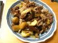 栗と牛肉の炒め物