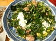 鶏と水菜の卵とじ