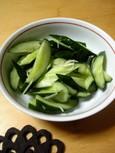 胡瓜の浅漬(新生姜風味)