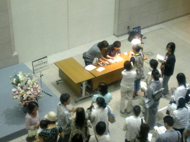 サイン会の様子
